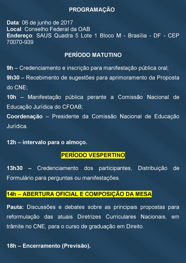 Convite - 2 Audiencia Publica - Novas DCN's Direito - Programacao_Página_2