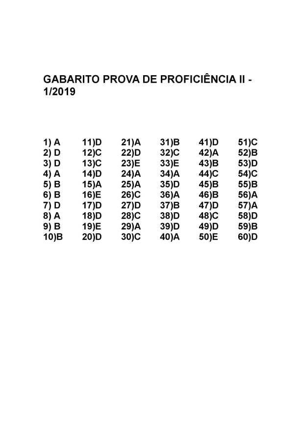 ii Gabarito Proficiência II 1 2019