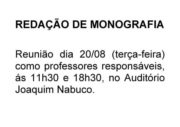 Reunião de Redação de Monografia